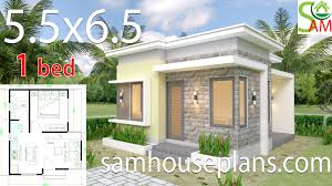 100 One Bedroom Design House Design Plans 55x65 With Flat Roof