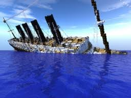 Minecraft Titanic Sinking Map by Rms Lusitania Sinking Minecraft Project