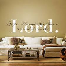 Monogram Wall Decal Vinyl Quote Bible Verse Religious Sticker Phrase Words