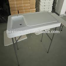 Fish Cleaning Station With Sink by Camp Cooking Table Fish Cleaning Table Outdoor Table With Sink