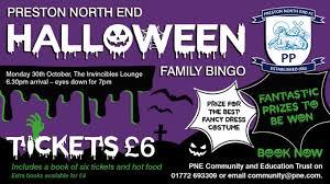 Best Halloween Books by Pne U0027s Halloween Bingo Sold Out News Preston North End