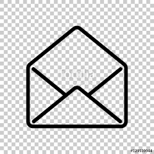 mail open icon Black icon on transparent background