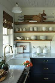 Resultats De Recherche Dimages Pour Kitchen Black Cabinets Open Shelves Farm Sink Brass