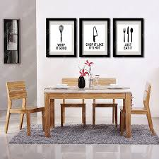 Kitchenware And Dining Utensils Decorative Wall Painting Canvas Art Print Pictures Modern Kitchen Decoration In Calligraphy From Home