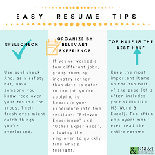 3 Easy Resume Tips (Infographic) | KNF&T Staffing Resources Best Resume Template 2015 Free Skills For A Sample Federal Resume Tips Hudsonhsme For An Entrylevel Mechanical Engineer Data Analyst 2019 Guide Examples Novorsum Public Relations Example Livecareer Tips Ckumca Remote Software Law School Of Cv Centre D Interet Exemple 12 First Time Job Seekers Business Letter Levels Fluency Beautiful 10 Usajobs