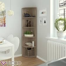 vicco eckregal sonoma eiche regal küchenregal badezimmer gästebadezimmer bad 4 ablagen