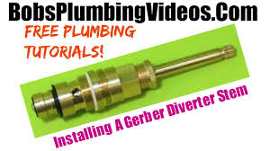 Gerber Kitchen Faucet Leaking by How To Replace A Gerber Diverter Stem Youtube