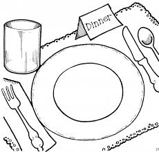 Black And White Of Nutrition Clipart Family Meal Time Dinner Cliparts