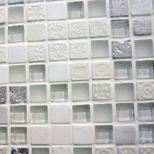 Iridescent Mosaic Tiles Uk by Ce White Mosaic White Glass Kitchen Tiles Wall Tiles Shop