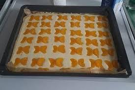 blitz käsekuchen mit mandarinen vom blech
