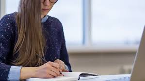 Hipster Young Student Girl Draw In Note Book Work With Laptop Skilled Designer