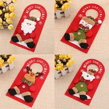 Christmas Decoration Santa Claus Elk Applique Style Lovely Detailed
