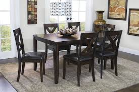 Round Dining Room Set For 6 by The Palm Springs Table With 6 Chairs Mor Furniture For Less