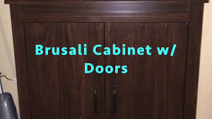 ikea brusali cabinet with doors assembly youtube
