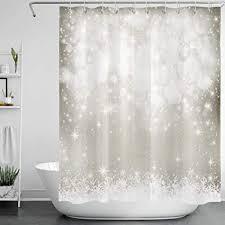 lb weihnachten duschvorhang 150x180cm schneeflocke winterlandschaft bad vorhänge polyester wasserdicht anti schimmel badezimmer deko heimzubehör mit