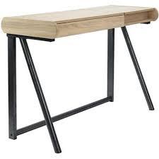 bureau design industriel bureau coiffeuse design industriel bois et métal noir achat