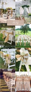 Rustic Country Burlap Wedding Chair Ideas