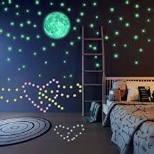 sternenhimmel aufkleber im dunkeln leuchtende wandsticker zum kreativen gestalten des eigenen sternenhimmels im kinder oder schlafzimmer 200
