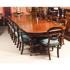 Antique 12 Ft Victorian D-end Mahogany Dining Table & 14 Chairs 19th ...