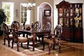 Dining Set Antique Cherry Solid Wood 7 Piece Formal Upholstered Chairs Tuscan Style Table Room Sets Park Dini