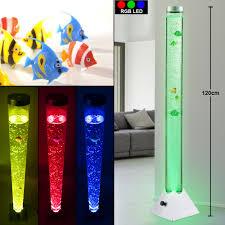 beleuchtete wassersäule mit deko fischen für ihren wohnraum