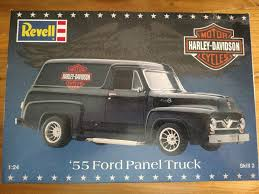 NEW REVELL HARLEY Davidson 1955 Ford Panel Truck 1:24 Scale Plastic ...