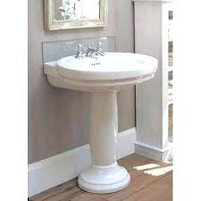 Pedestal Sinks For Small Bathrooms by Bathroom Pedestal Sink Small With Storage Bathrooms Modern White
