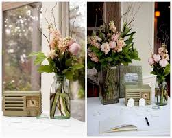 Vintage Wedding Centerpieces With Books