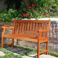 Beautiful Two Seater Garden Bench Outdoor Wood Brown Rustic Style Furniture Person Seat