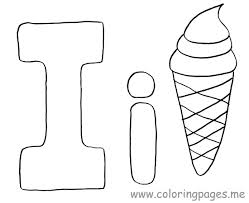 Letter I Coloring Pages Preschool Crafts Online
