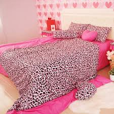 Cheetah Print Room Accessories by Valentine Days Queen Bed Sheet Sets For Kids Bedding Decorations