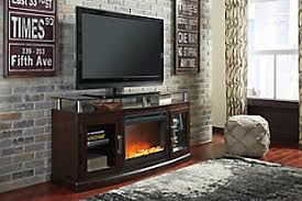 Large Chanceen 60 TV Stand With Electric Fireplace Rollover
