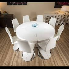 100 White Gloss Extending Dining Table And Chairs Winning Circular High Astounding