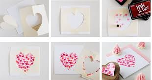 Different Colour Heart Shape Handmade Cards For Boyfriend Step By 2