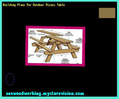 outdoor picnic table bench plans 103136 woodworking plans and