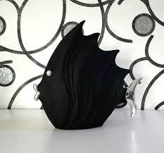 figur fisch klein schwarze steinoptik deko tier badezimmer