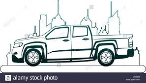 100 Truck Pick Up Lines Up Truck At City On Blue Lines Stock Vector Art Illustration