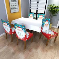US $6.21  Christmas Decoration Chair Covers Dining Seat Santa Claus Home  Party Decor Cartoon Old Man Snowman New Year Party Stool Set On AliExpress  - ... Christmas Decoration Chair Covers Ding Seat Sleapcovers Tree Home Party Decor Couch Slip Wedding Table Linens From Waxiaofeng806 542 Details About Stretch Spandex Slipcover Room Banquet Dcor Cover Universal Space Makeover 2 Pc In 2019 Garden Slipcovers Whosale Black White For Hotel Linen Sofa Seater Protector Washable Tulle Ideas Chair Ab Crew Fabric For Restaurant Usehigh Backpurple