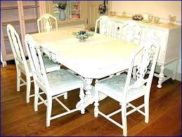 White Distressed Table Dining Room Set Awesome