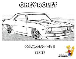 1969 Chevrolet Camaro ZL 1 Million Print Out This Muscle Car Coloring Page Now Yescoloring Images 02 Co