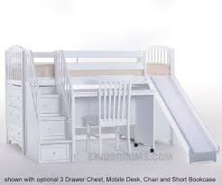White Low Loft Bed With Desk by House Junior Low Loft Bed With Stairs And Slide Ne Kids