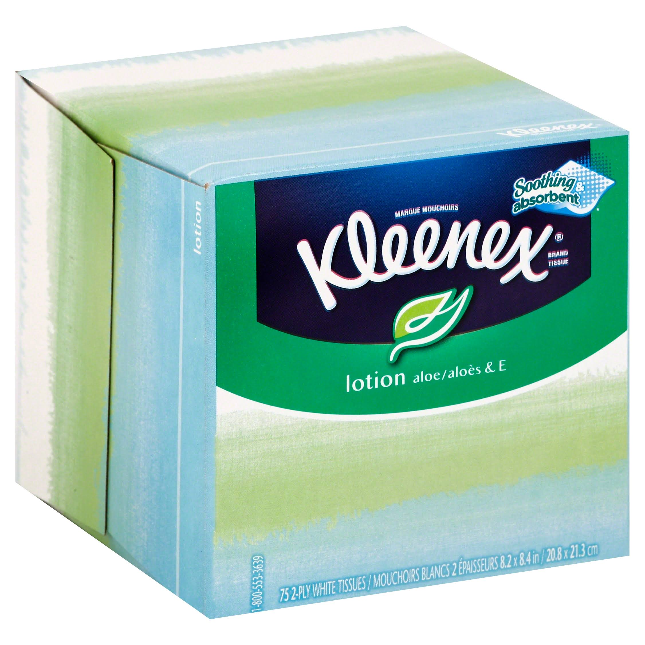 Kleenex Lotion Facial Tissue - with Aloe and Vitamin E, 75ct