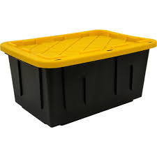 Christmas Tree Storage Containers Canada by Durabilt 27 Gal Plastic Storage Tote Black Yellow Set Of 4