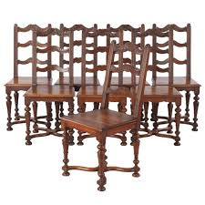 Set Of 8 French Louis XIV Style Walnut Dining Chairs Circa 1920s P