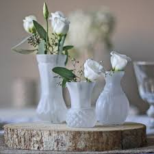 Jar Flower 1h Vases Bud Wedding Vase Centerpiece Idea I 0d White