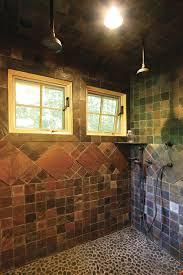 fiberglass shower pan bathroom rustic with shower window slate