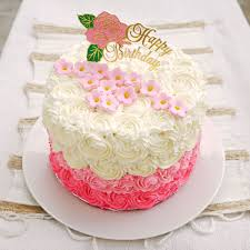 Most Beautiful Happy Birthday Cake Design Ever with Flowers
