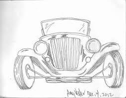Amys Art Journal Vintage Car