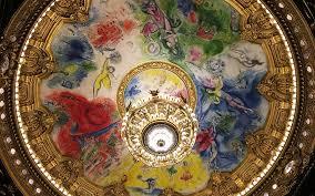 le plafond de marc chagall à l opéra garnier