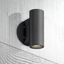 possini design black outdoor led up and wall light